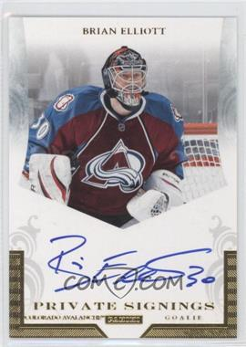 2011-12 Pinnacle Private Signings #BE - Brian Elliott