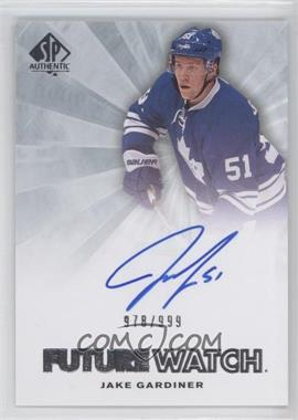 2011-12 SP Authentic - [Base] #225 - Autographed Future Watch - Jake Gardiner /999