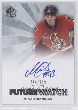 2011-12 SP Authentic - [Base] #227 - Autographed Future Watch - Mika Zibanejad /999
