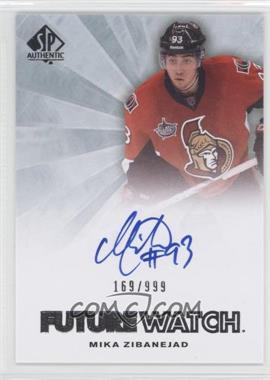 2011-12 SP Authentic #227 - Mika Zibanejad /999