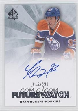 2011-12 SP Authentic #248 - Ryan Nugent-Hopkins /999