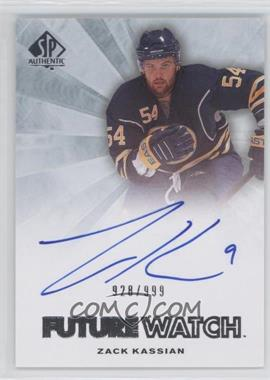 2011-12 SP Authentic #279 - Autographed Future Watch - Zack Kassian /999