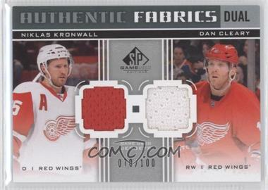 2011-12 SP Game Used Edition Authentic Fabrics Dual #AF2-CK - Niklas Kronwall, Dan Cleary /100