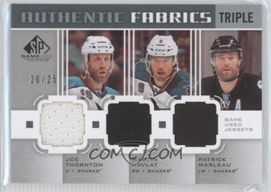 2011-12 SP Game Used Edition Authentic Fabrics Triple #AF3-SJS - Joe Thornton, Martin Havlat, Patrick Marleau /25
