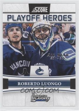 2011-12 Score - Playoff Heroes - All-Star 2011-2012 #10 - Roberto Luongo /5