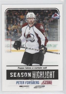 2011-12 Score Glossy #33 - Peter Forsberg