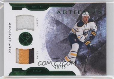 2011-12 Upper Deck Artifacts Horizontal Variation Emerald Jersey/Patch #43 - Drew Stafford /35
