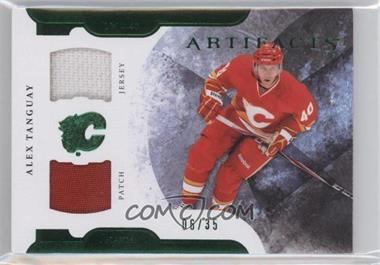 2011-12 Upper Deck Artifacts Horizontal Variation Emerald Jersey/Patch #64 - Alex Tanguay /35