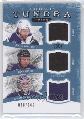 2011-12 Upper Deck Artifacts Tundra Trios Jerseys Blue #TT3-KINGS - Jonathan Bernier, Justin Williams, Ryan Smyth /149