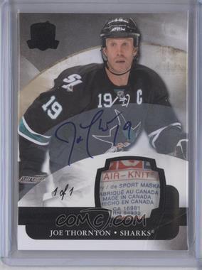 2011-12 Upper Deck The Cup - [Base] - Laundry Tag [Autographed] [Memorabilia] #74 - Joe Thornton /1