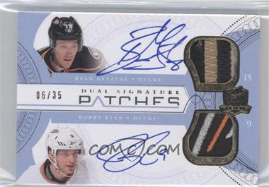 2011-12 Upper Deck The Cup Dual Signature Patches #SP2-GR - Ryan Getzlaf, Bobby Ryan /35