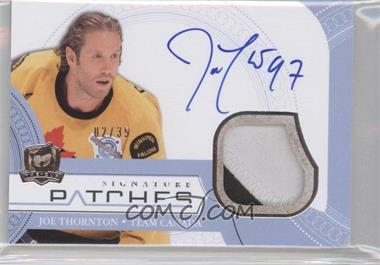 2011-12 Upper Deck The Cup Signature Patches #SP-JT - Joe Thornton /35