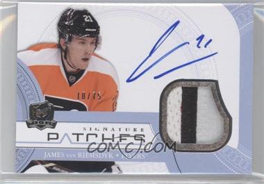 2011-12 Upper Deck The Cup Signature Patches #SP-VA - James van Riemsdyk /75