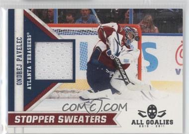 2011 Panini All Goalies Box Set Stopper Sweaters #13 - Ondrej Pavelec