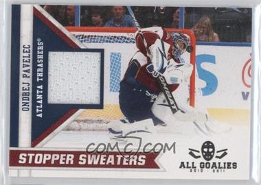 2011 Panini All Goalies Box Set Stopper Sweaters #13 - Ondrej Pavelec