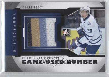 2012-13 In the Game Heroes and Prospects Game-Used Black Number #M-32 - Stuart Percy