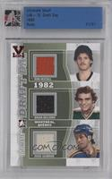 Ron Hextall, Brian Bellows, Doug Gilmour /1 [ENCASED]