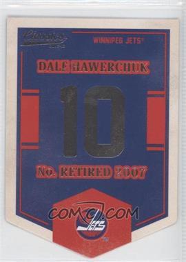 2012-13 Panini Classics Signatures Banner Numbers #EN70 - Dale Hawerchuk