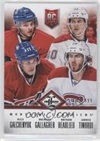 Montreal Canadiens (Alex Galchenyuk, Nathan Beaulieu, Brendan Gallagher, Jarred…