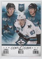 San Jose Sharks (Tomas Hertl, Matt Nieto, Matt Irwin) /499