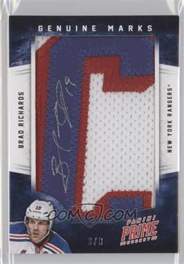 2012-13 Panini Prime Genuine Marks [Autographed] #12 - Brad Richards /8