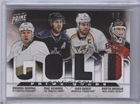 Brenden Morrow, Mike Richards, Shea Weber, Martin Brodeur