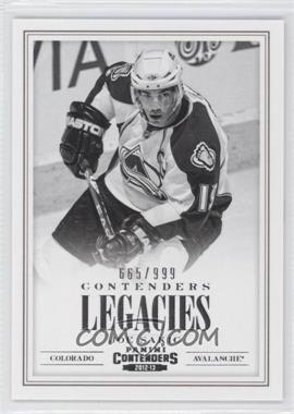 2012-13 Panini Rookie Anthology Contenders Legacies #L17 - Joe Sakic /999