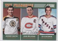 Johnny Bucyk, Ed Giacomin, Jean Beliveau
