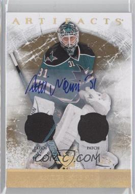 2012-13 Upper Deck Artifacts - [Base] - Gold Spectrum Patch/Patch Autograph [Autographed] #101 - Antti Niemi /3