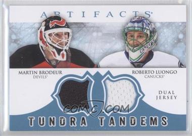 2012-13 Upper Deck Artifacts - Tundra Tandems Dual Jerseys - Blue #TT-BL - Roberto Luongo