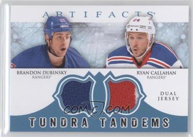 2012-13 Upper Deck Artifacts - Tundra Tandems Dual Jerseys - Blue #TT-CD - Brandon Dubinsky, Ryan Callahan