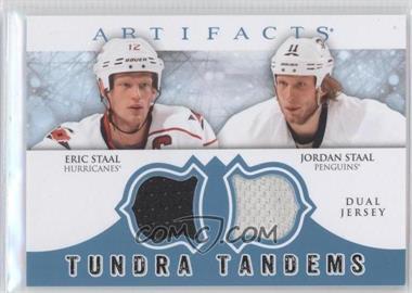 2012-13 Upper Deck Artifacts - Tundra Tandems Dual Jerseys - Blue #TT-EJ - Eric Staal, Jordan Staal