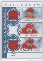 Johan Franzen, Pavel Datsyuk, Henrik Zetterberg