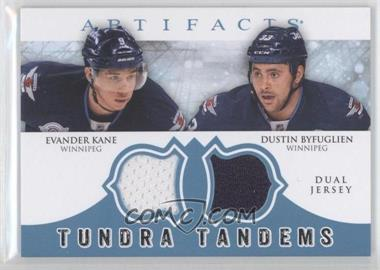 2012-13 Upper Deck Artifacts Tundra Tandems Dual Jerseys Blue #TT-BK - Evander Kane, Dustin Byfuglien