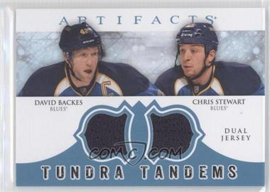 2012-13 Upper Deck Artifacts Tundra Tandems Dual Jerseys Blue #TT-BS - David Backes, Chris Stewart