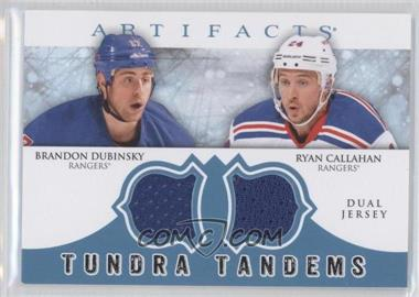 2012-13 Upper Deck Artifacts Tundra Tandems Dual Jerseys Blue #TT-CD - Brandon Dubinsky, Ryan Callahan