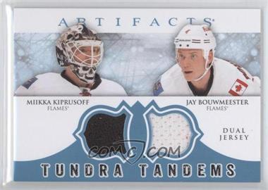 2012-13 Upper Deck Artifacts Tundra Tandems Dual Jerseys Blue #TT-KB - Miikka Kiprusoff, Jay Bouwmeester