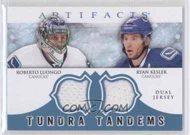 2012-13 Upper Deck Artifacts Tundra Tandems Dual Jerseys Blue #TT-LK - Roberto Luongo, Ryan Kesler