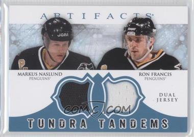 2012-13 Upper Deck Artifacts Tundra Tandems Dual Jerseys Blue #TT-NF - Markus Naslund, Ron Francis
