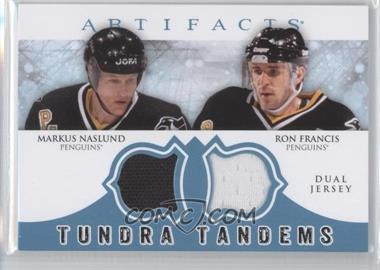 2012-13 Upper Deck Artifacts Tundra Tandems Dual Jerseys Blue #TT-NF - Markus Naslund, Ron Francis