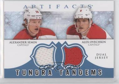 2012-13 Upper Deck Artifacts Tundra Tandems Dual Jerseys Blue #TT-SO - Alexander Semin, Alex Ovechkin