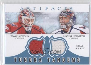 2012-13 Upper Deck Artifacts Tundra Tandems Dual Jerseys Blue #TT-VN - Tomas Vokoun, Michal Neuvirth