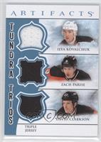 Ilya Kovalchuk, Zach Parise, David Clarkson