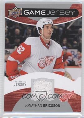 2012-13 Upper Deck Game Jersey #GJ-JE - Jonathan Ericsson
