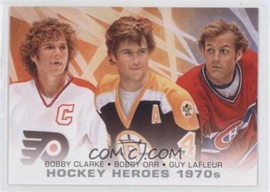 2012-13 Upper Deck Hockey Heroes 1970s #HH39 - Bobby Orr, Bobby Clarke, Guy Lafleur