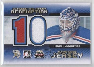 2012 In the Game Between the Pipes - Spring Expo Redemption Prizes Game-Used #BTPR-45 - Henrik Lundqvist