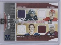 Jonathan Quick, Steve Yzerman, Mark Messier, Joe Sakic /1 [ENCASED]