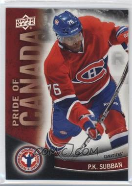 2012 Upper Deck National Hockey Card Day Canadian #7 - P.K. Subban
