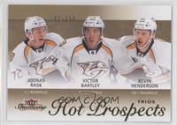 Hot Prospects Trios - Kevin Henderson, Joonas Rask, Victor Bartley /399