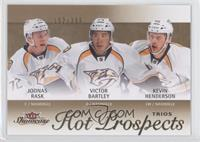 Hot Prospects Trios - Kevin Henderson, Joonas Rask, Victor Bartley /399